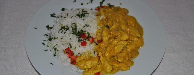 Curry-Geschnetzeltes mit Mango